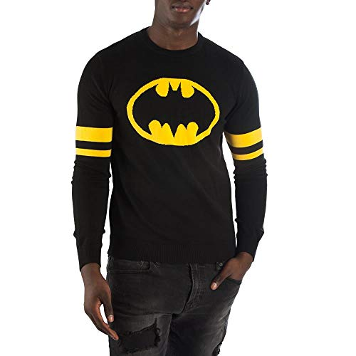 Batman Sweater DC Comics Apparel Batman Shirt DC Comics Sweater Batman Apparel-Large Black -