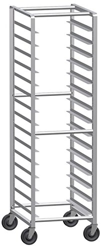 Lockwood LW70-15E Aluminum Full Height Light Weight Mobile Economy Rack, 15 Pan Capacity, 26'' Length x 20-13/16'' Width x 70'' Height by Lockwood