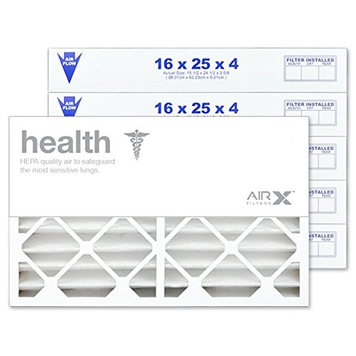AIRx Filters Health 16x25x4 Air Filter MERV 13 Replacement for White Rodgers FR1400M-108 FR1400M-111 to Fit Media Air Cleaner Cabinet White Rodgers ACM1400M, 6-Pack