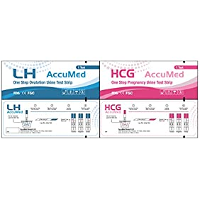 AccuMed® Combo 100 Ovulation (LH) & 50 Pregnancy (HCG) Test Strips Kit, Clear and Accurate Results, FDA Approved and Over 99% Accurate