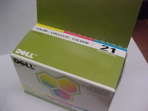 New Genuine Dell Y498 Tri-Color Ink Cartridge Series 21 Retail Box; V313W P713W