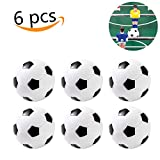 Foosball Table Foosball Balls Foosballs Replacement Soccer Balls Mini Black and White 36 mm