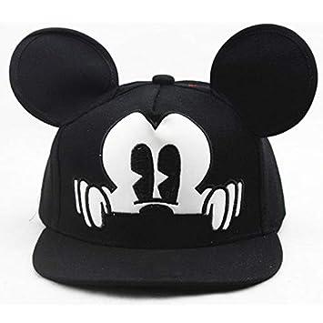 Amazon.com   UltimaFio - Hot Mesh Hat Cute Ear Caps Children Hats for Girls  Prop Newborn Cap Baseball Caps with Ears Spring Summer Autumn Sun Hat  Black      ... 35950977eba0