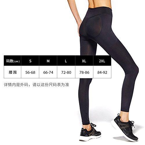 ZHUDJ Ihr Abdomen Cosmopolitian Hose Tight Slim Bewegung Hip Und Körper Von Der Taille Dünne Oberschenkel Non-Marking Kompression Ausführen 3 byjluyI