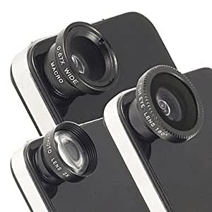 Universal Magnetic 2X Telephoto Lens,Fisheye Lens and Wide Angle Macro Lens for iPhone and Others , Silver
