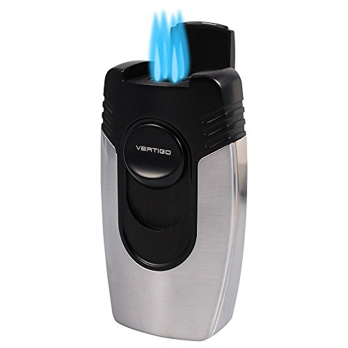 - Vertigo Big Buddha Quad Flame Table Lighter (Chrome)