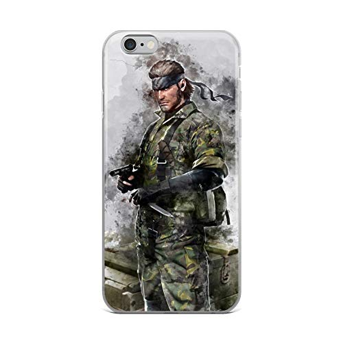iPhone 6 Plus/6s Plus Case Anti-Scratch Gamer Video Game Transparent Cases Cover Snake Metal Gear Solid Watercolor Gaming Computer Crystal Clear