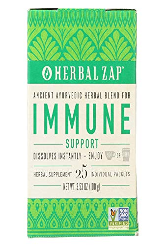 Herbal Zap Immune Support Instantly Dissolving Herbal Supplementper Box, Chai Spice, 25Count