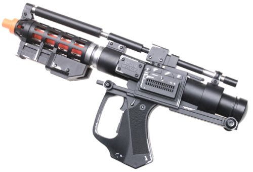 - STAR WARS BATTLE DROID BLASTER RIFLE ELECTRONIC LIGHT & SOUND (1999 Hasbro)