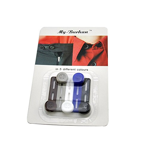 """UPC 602716342209, Silicone Elastic Button extender Pant Extender Collor Extender 5-pack, My-Burhan Sillicon Button extender-Adds 1"""" Instantly"""