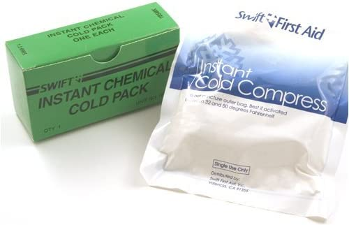 Instant Cold Pack, 5 x 6, 5 BOX BUNDLE by Swift First-Aid: Amazon ...