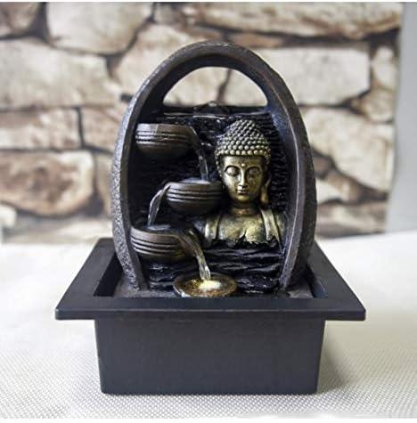 R/ésine Taille Unique Zen Light Artpot Fontaine d/'Int/érieur avec Pompe et Eclairage LED