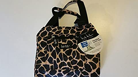 Nicole Miller Insulated 11 Lunch Tote (Leopard print) (Deep Purple Made In Japan Box Set)