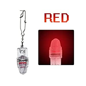 Deep Drop LED Fishing light with Clip Underwater Fish Attracting Lamp Fishing Lure LED Flashing Light 2,100 ft