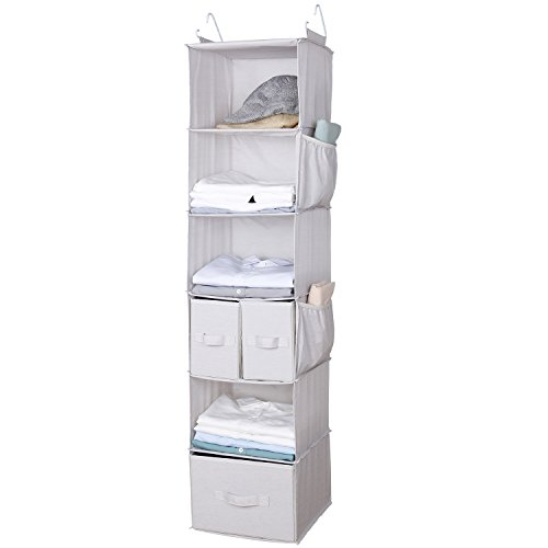 Lifewit Collapsible Closet Hanging Shelf, Hanging Accessory Organizer Clothes Blankets Toys Storage