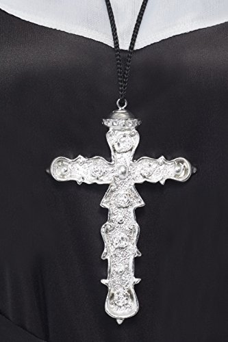 Nuns Gothic Ornate Silver Cross Pendant]()