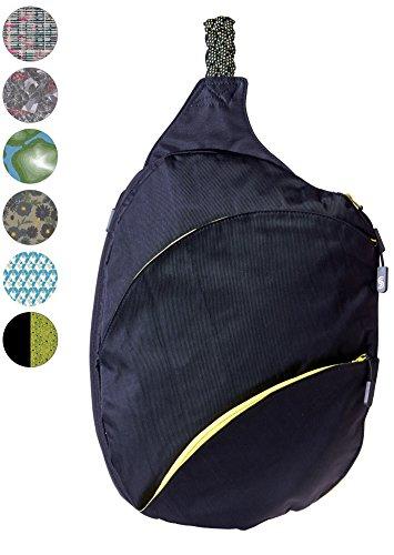 Slope Sling Backpack for Women with 13 Inch Laptop Pocket Kids Cross Body Bag Pocket One Shoulder Strap Daypack - Apple Black