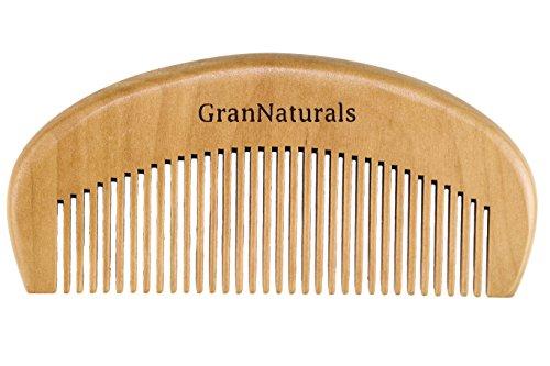GranNaturals Wooden Comb Hair + Beard Detangler for Women and Men -...