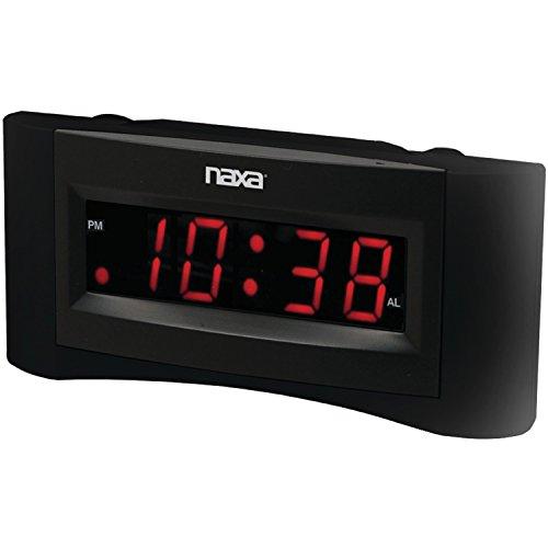 NAXA Electronics NRC-165 Easy-Read Dual Alarm Clock with Bui