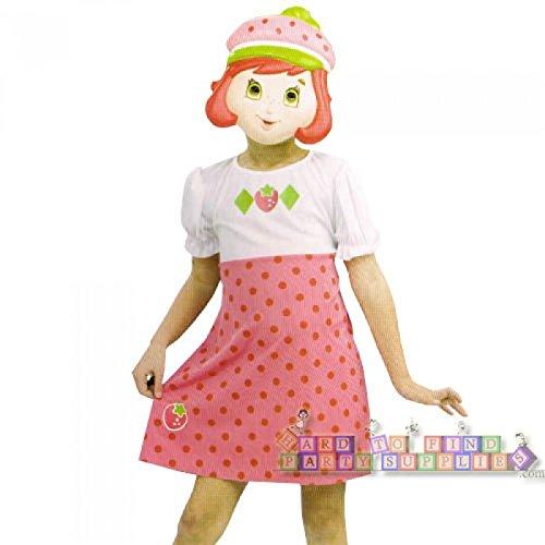 Strawberry Shortcake Costume Small 4-6 Dress and Mask Set -