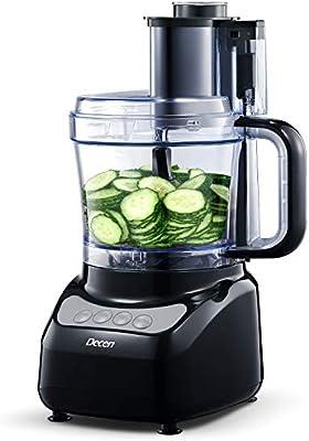 Decen Procesador de Alimentos, 2L Robot de Cocina, Cortador de ...