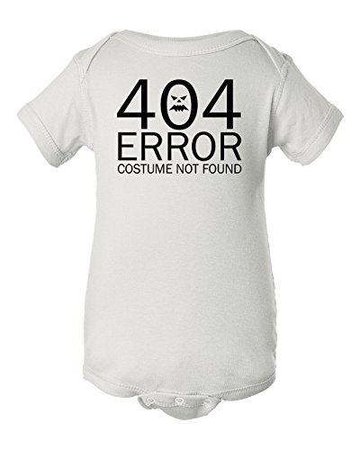 Dancing Participle Baby Girl's 404 Error Costume Not Found Bodysuit, 12 Months, (Comedy Of Errors Costumes)