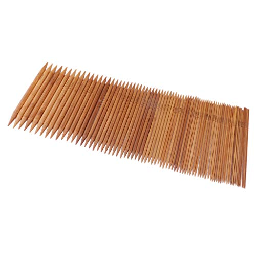 perfk 75pcs Pin de Doble Punta Alfileres de Tejer Pines de Bambú Carbonizadas: Amazon.es: Hogar