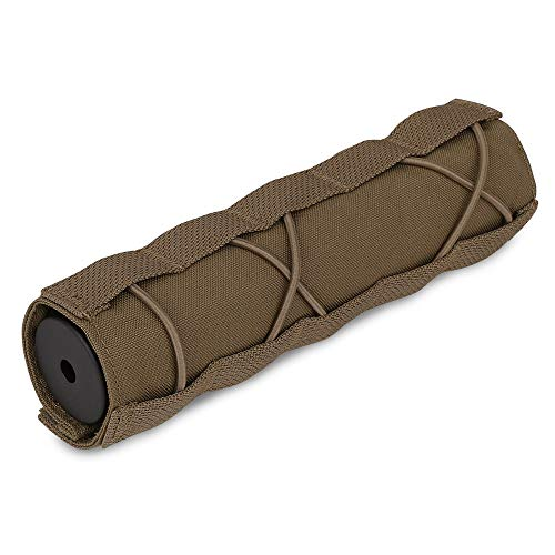 KRYDEX Tactical Airsoft Suppressor Cover 7 inch/18cm (CB)