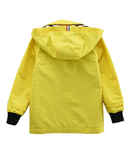 M2C Boys & Girls Raincoat Hooded Jacket Outdoor Light Windbreaker 6/7 Yellow
