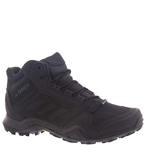 adidas outdoor Terrex Ax3 Mid GTX Mens Hiking Boot Black/Black/Carbon, Size 11