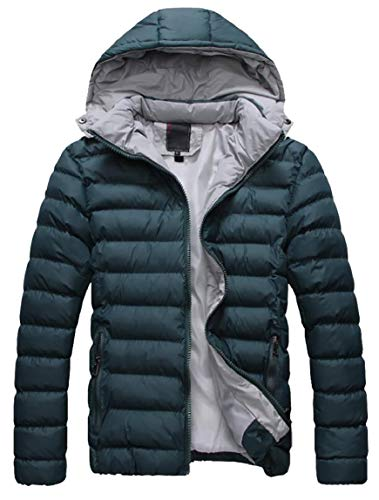 Packable Jacket Coat Lightweight Men's Hooded Winter Outerwear Puffer Green Down security pqCTxwI