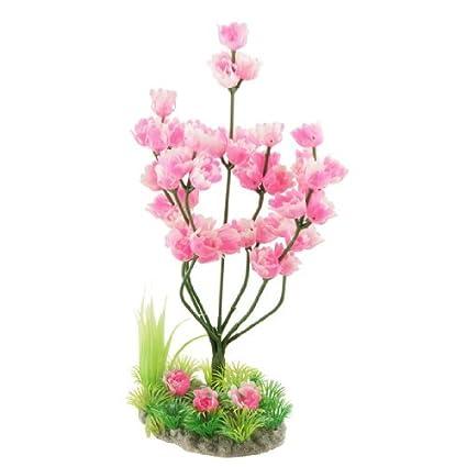 eDealMax Ornamento planta Jardin plástico Artificial del Flor del ciruelo Árbol Para el acuario, 9