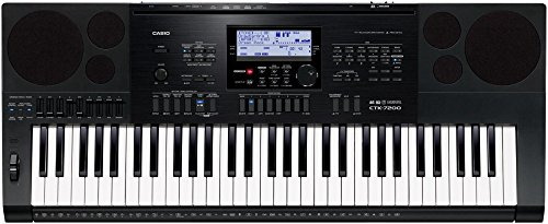 Casio CTK7200 61-Key Personal Keyboard with Power Supply by Casio