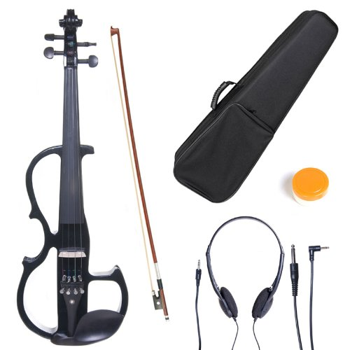 cecilio-l3-4cevn-l2bk-left-handed-solid-wood-black-metallic-electric-violin-with-ebony-fittings-in-s