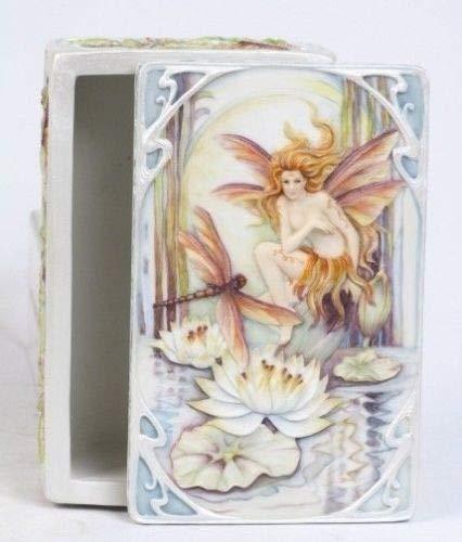 Figurine Designer Art Statue Wild Magic Fairy Trinket Jewelry Box