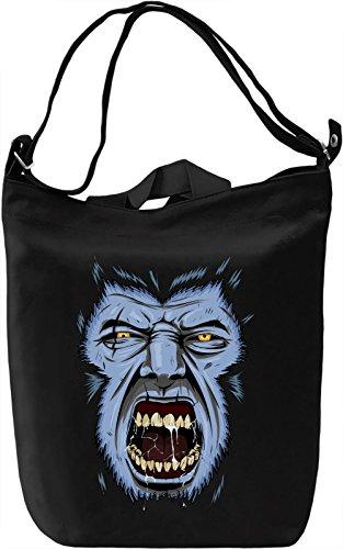 Werewolf face Borsa Giornaliera Canvas Canvas Day Bag  100% Premium Cotton Canvas  DTG Printing 