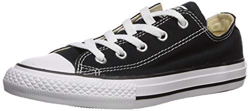 Converse unisex-child Chuck Taylor All Star  Low Top Sneaker, black, 12.5 M US Little Kid -