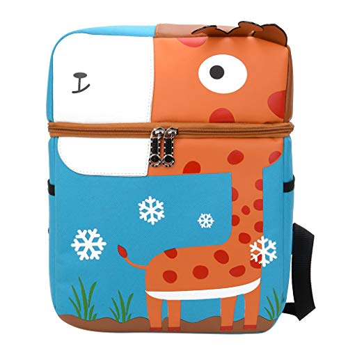 Dasuy Student Travel Laptop Backpack College Bags Cartoon Pattern School Backpacks for Toddler Kids Elementary Bookbag (9.44x4.33x12.59 inch, Blue)