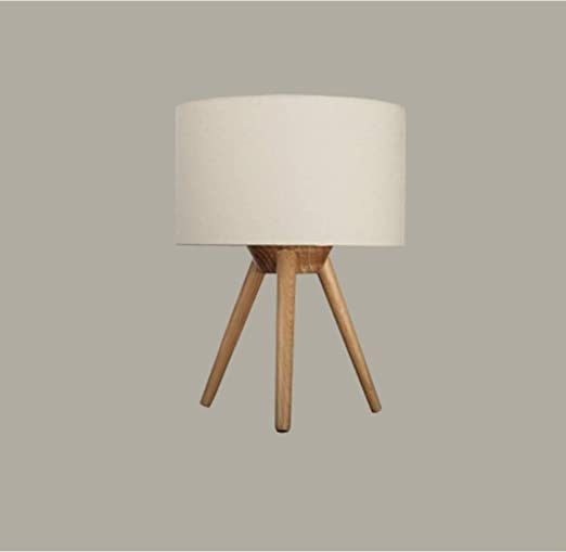 Lámpara de mesa de madera para salón, dormitorio, lámpara de noche ...