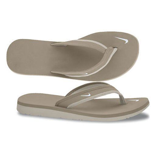 e9317d9f6f13 Nike Women s Celso Girl Thong Sandal Khaki Birch White Lime White 6 ...