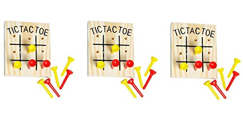 Set of 3 Rhode Island Novelty Wooden Tic Tac Toe Games ()