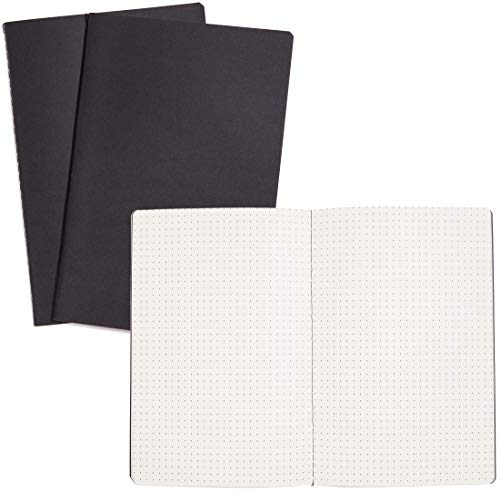 Paper Junkie 12 Pack A5 Kraft Black Cover Dot Grid Journal Notebooks, 5.5 x 8 Inches