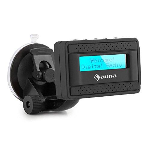auna DABstate DAB+ Digital-Autoradio-Adapter Bluetooth AUX Halterung Antenne