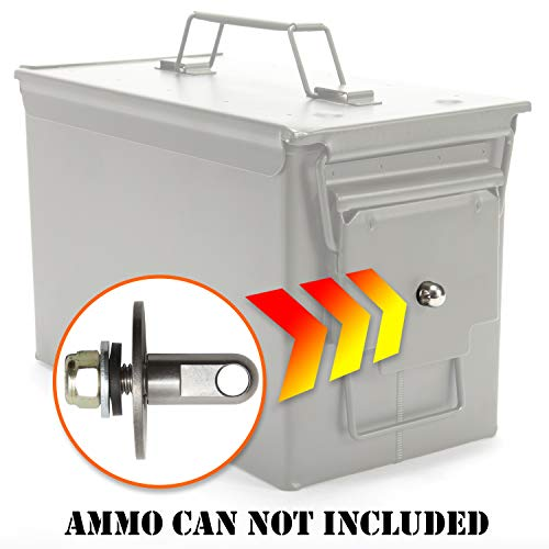 (Army Force Gear Ammo Can Locking Hardware Kit - Stainless Steel Lock Hardware for Ammo Cases - One Size Fits All Ammo Box Lock Kit - 50 Cal, Fat 50, 30 Cal, 20 mm, 40 mm Ammunition Cans - 5 Pack)