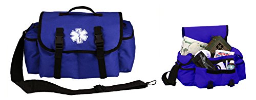 Ultimate Arms Gear Deluxe Heavy Duty Navy Blue EMS/EMT Emergency Medical Paramedic Rescue Supplies Gear Pack Trauma Equipment First Aid Kit Carry Rescue Shoulder Bag by Ultimate Arms Gear