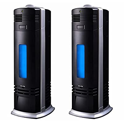 2 Two Carbon Ionic Air Purifier Ionizer Negative Fresh Ions Pro Breeze Black New
