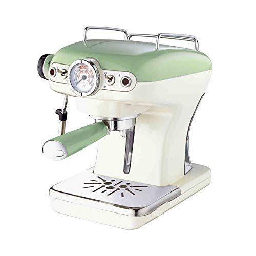 LTLWSH Espresso Machine, Retro Design 900 W Power Consumption, 15 Bar Pressure, 0.9 L Removable Water Tank, Steam Nozzle, Temperature Display