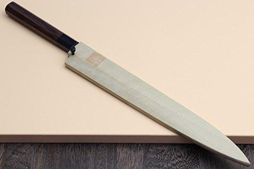 Yoshihiro Hongasumi Blue Steel Yanagi Sushi Sashimi Japanese Knife Rosewood Handle (240mm/9.5'') by Yoshihiro (Image #5)