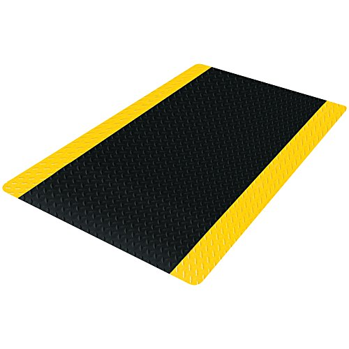 Boxes Fast BFMAT289BY Diamond Plate Anti-Fatigue Mat, 3' x 16', Black/Yellow (Pack of 1) Diamond Plate Cushioning Mats