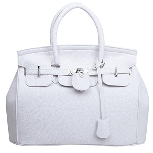 party leather bag bag Luoluoluo simple handbag shoulder White large Summer Girls capacity FUqBqw1a